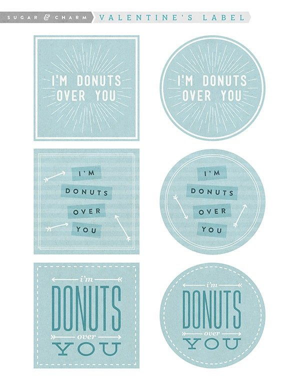 Donut Valentine's Day Printable graphic.