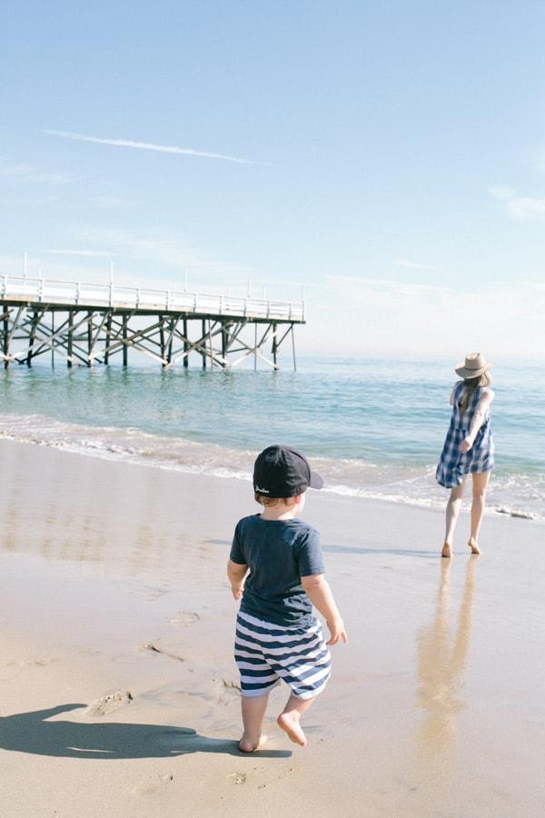 Running to the beach