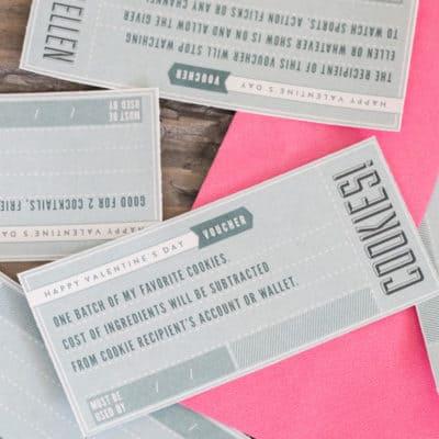 Valentine's Day Printable Vouchers