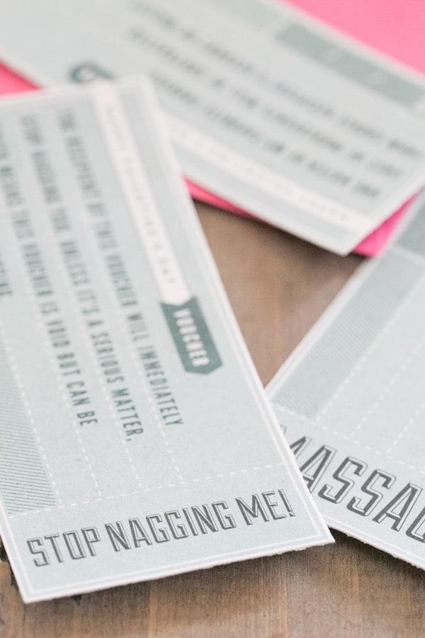 Valentine's Day printable vouchers.