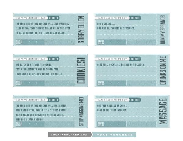 Printable Valentine's Day Vouchers