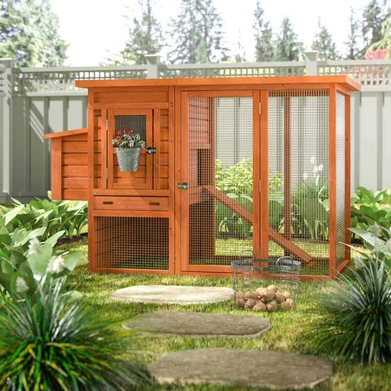 A beautiful, modern chicken coop.