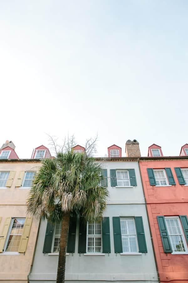 Charleston colorful houses