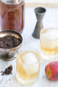 Peach Tea and Rum Cocktail