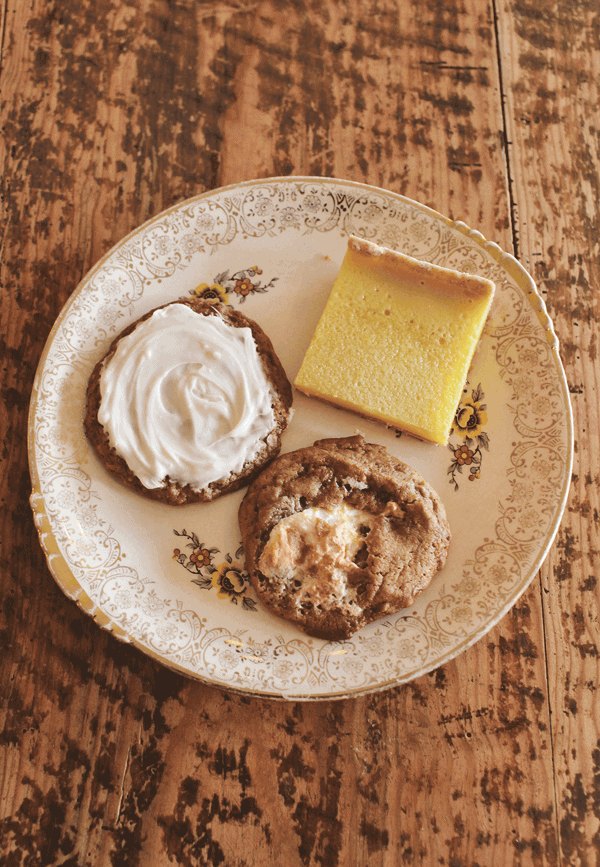 Plate with cookies and lemon bars