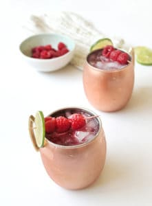 Raspberry Moscow Mules
