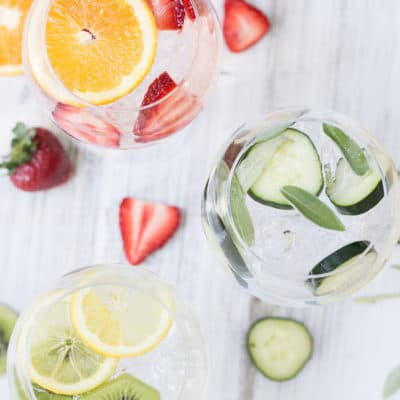 fruit infused gin and tonics