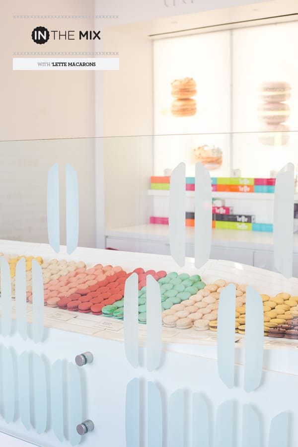 Lette Macarons behind a counter