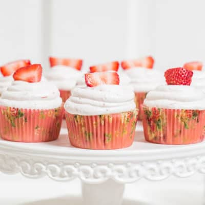Martha Stewart Strawberry Cupcakes