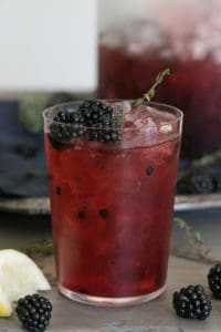 Blackberry Thyme Sparkling Punch