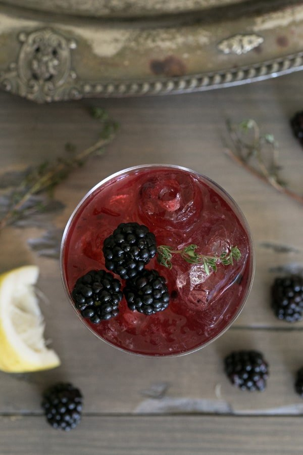 Blackberry punch recipe with infused vodka