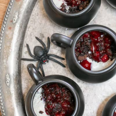 Gooey Chocolate Cherry Crockpot Cake