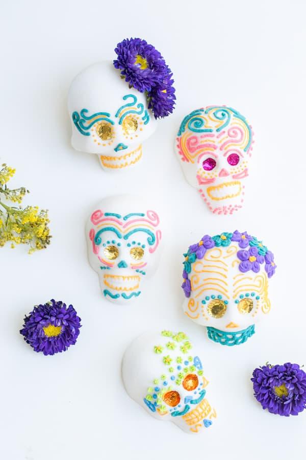 Dia de los Muertos sugar skulls.