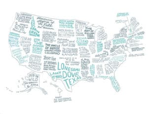 Literary Map of the United States