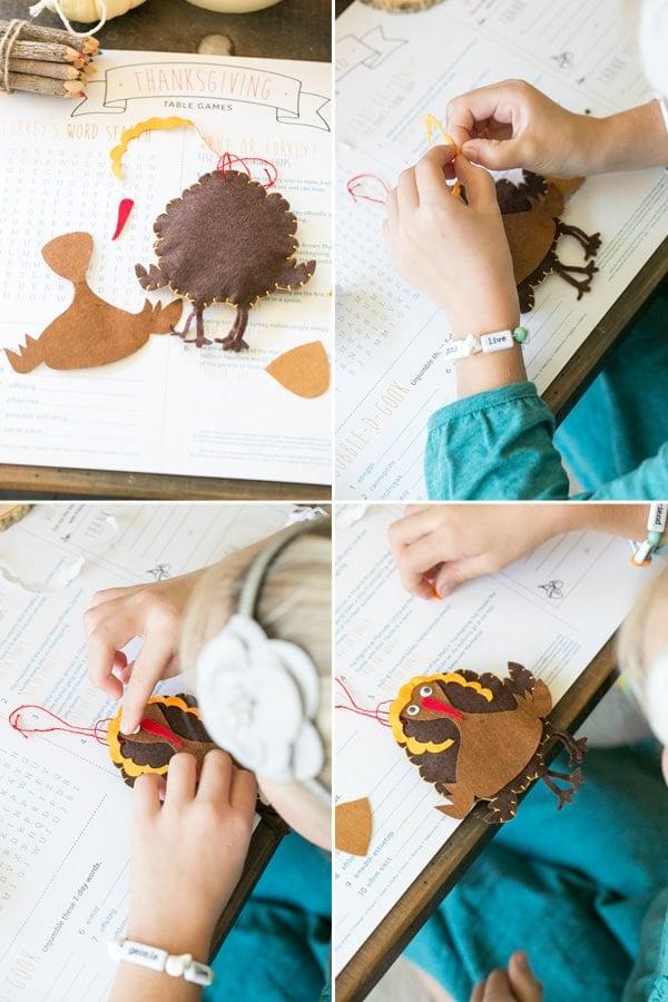 Thanksgiving craft ideas for kids and felt turkeys.