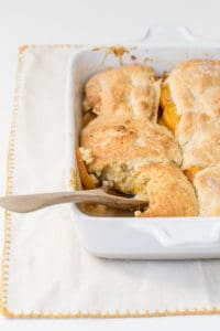 Peach and Pear Polenta Cobbler Recipe