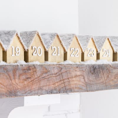 DIY Advent Calendar – with Charming Wooden Houses