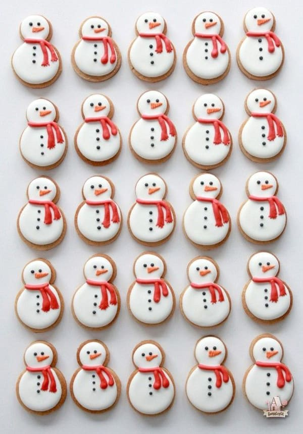 Snowman Christmas Cookie Decorating