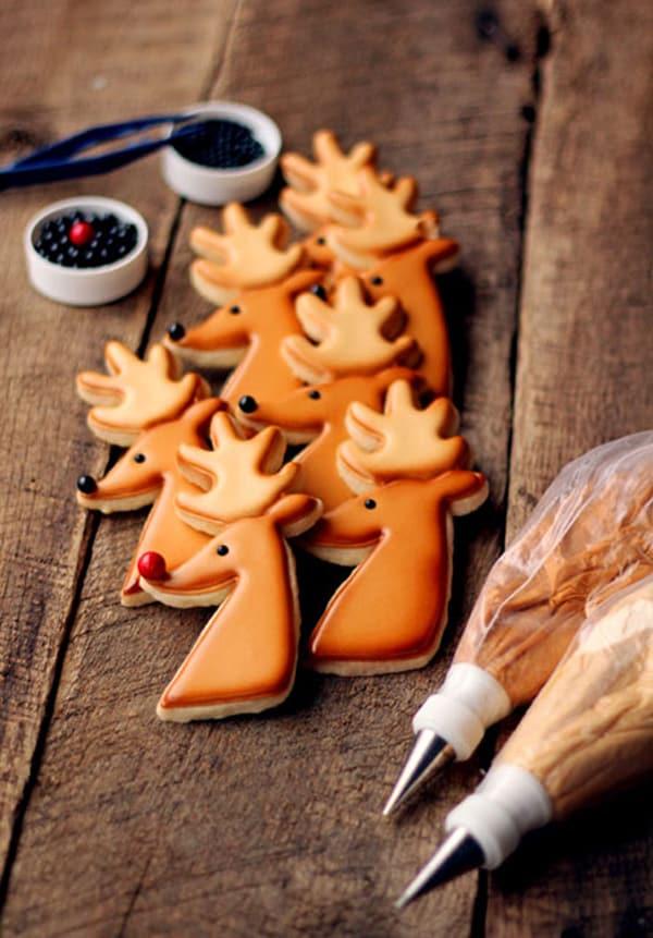 Sugar cookies reindeer