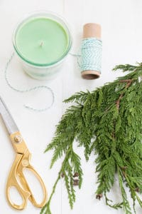 DIY Pine Scented Soy Candles