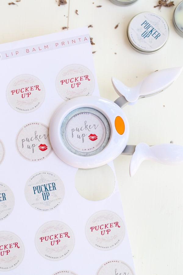 DIY pucker up lavender lip balm