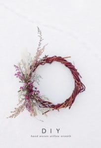 DIY Handwoven Willow Wreath