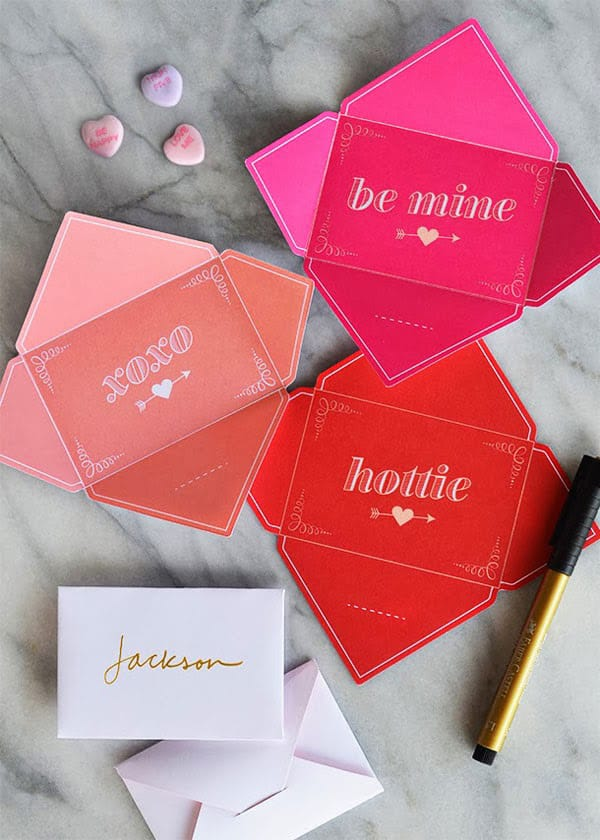 Fold and send Valentine's cards
