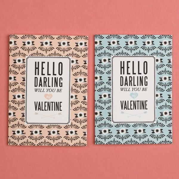 Valentine's Day printable that say hello darling
