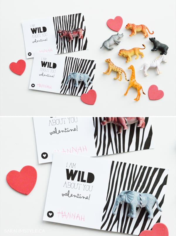 Animal themed Valentine's Day printables
