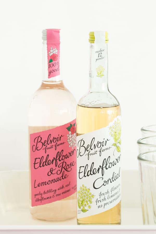Elderflower and rose cordial
