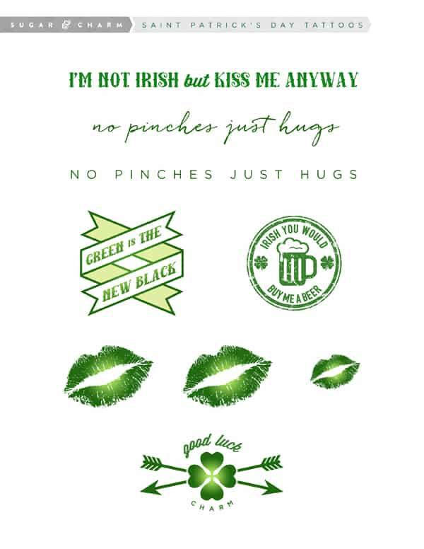 Tattoo graphics for Saint Patrick's Day