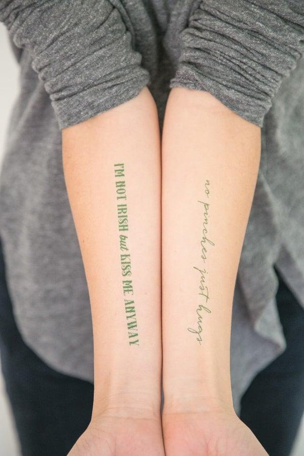 Printable tattoos for Saint Patricks Day
