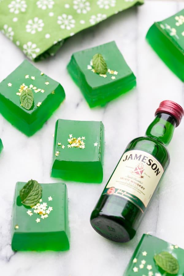 Jameson Irish Whiskey with jello shots.