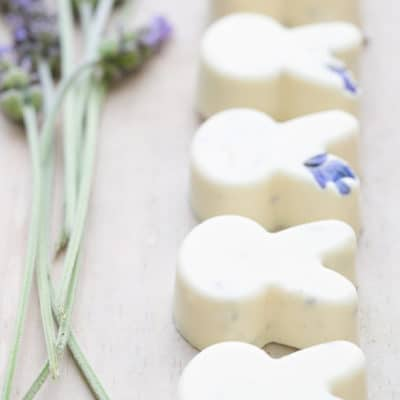 White Chocolate Lavender Bunnies