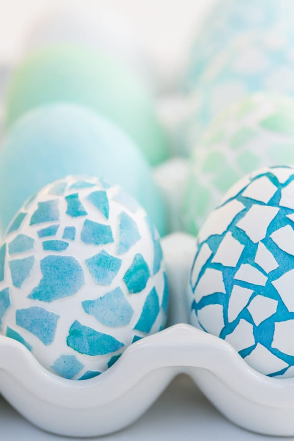 Mosaic easter eggs sugar and charm sweet recipes for Egg mosaic design