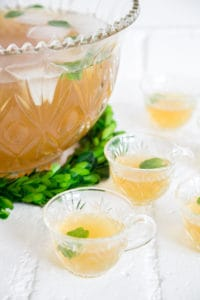 Irish Whiskey Green Tea Punch