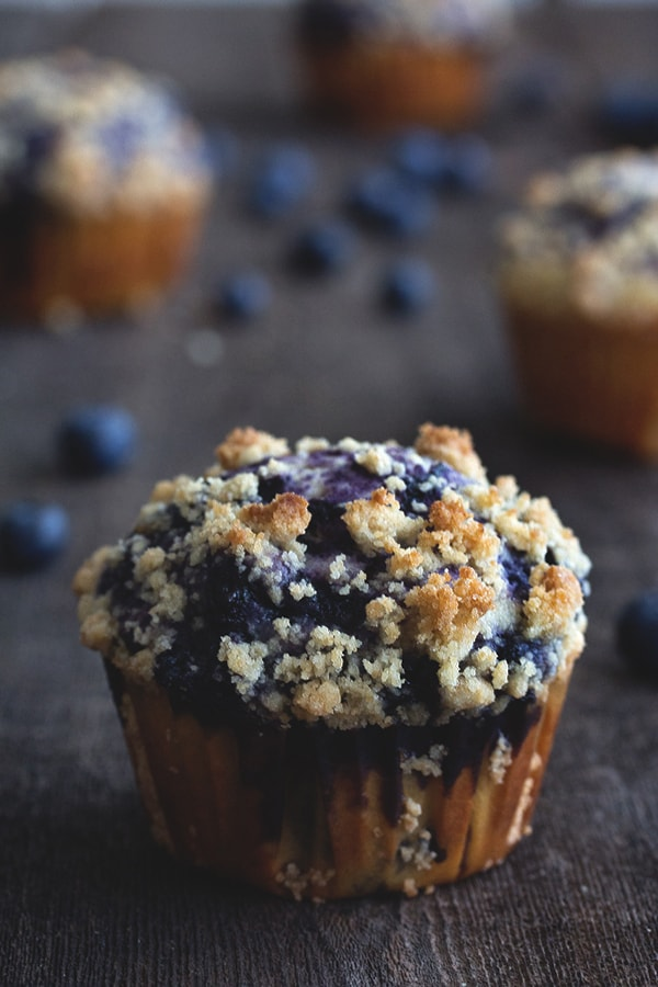 Blueberry swirl muffins.