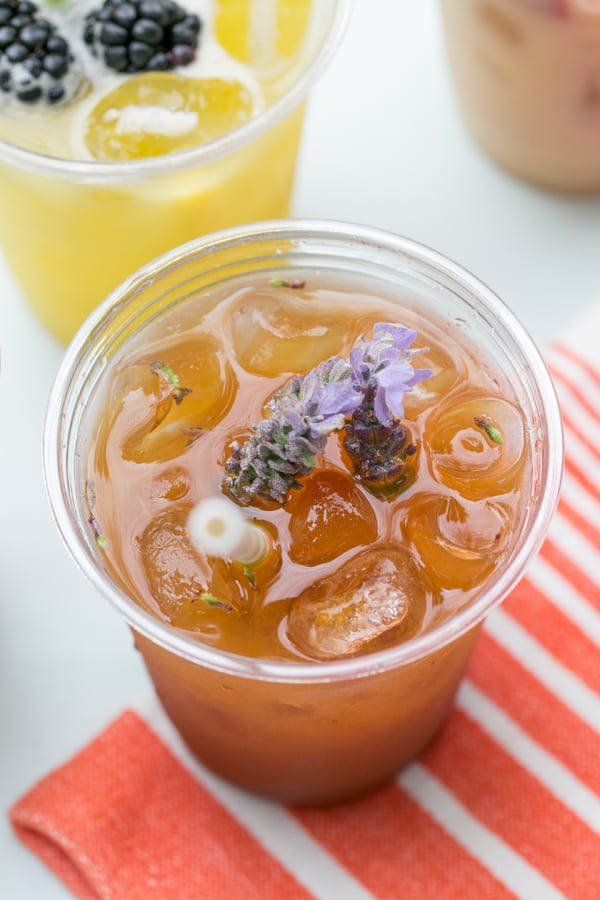 Lavender and peach agua fresca