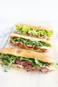 Parmesan Eclair Sandwiches
