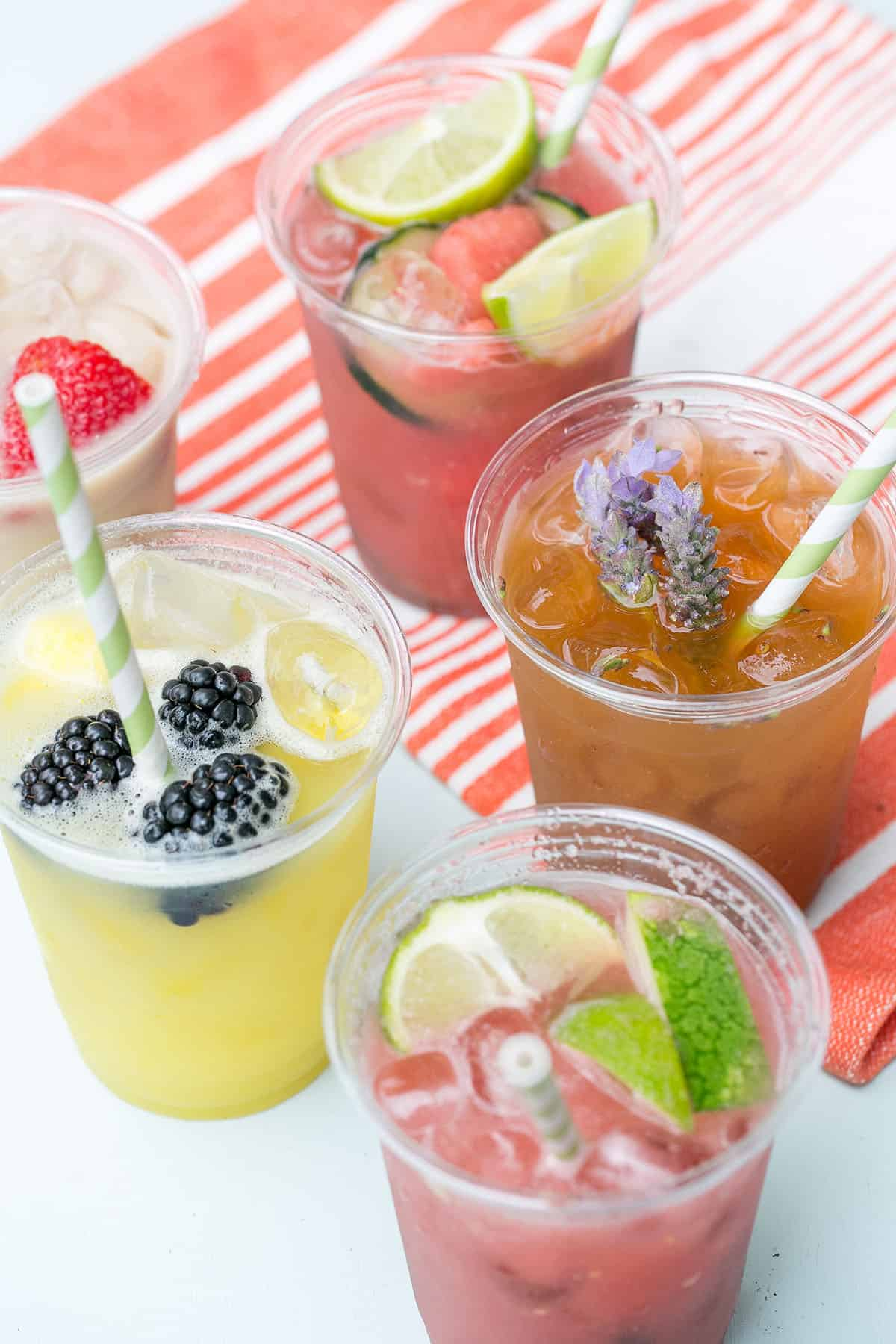 refreshing drinks made with real fruit