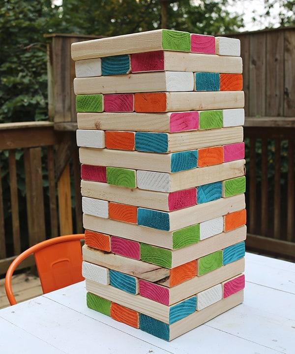 Giant Jenga blocks