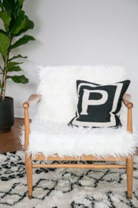 DIY Faux Fur Modern Chair with The Design Network