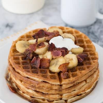 Bacon, Brandy and Banana Waffles