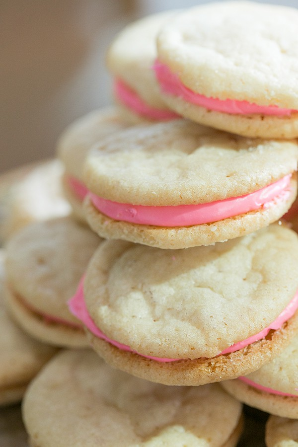 Sugar cookie sandwich