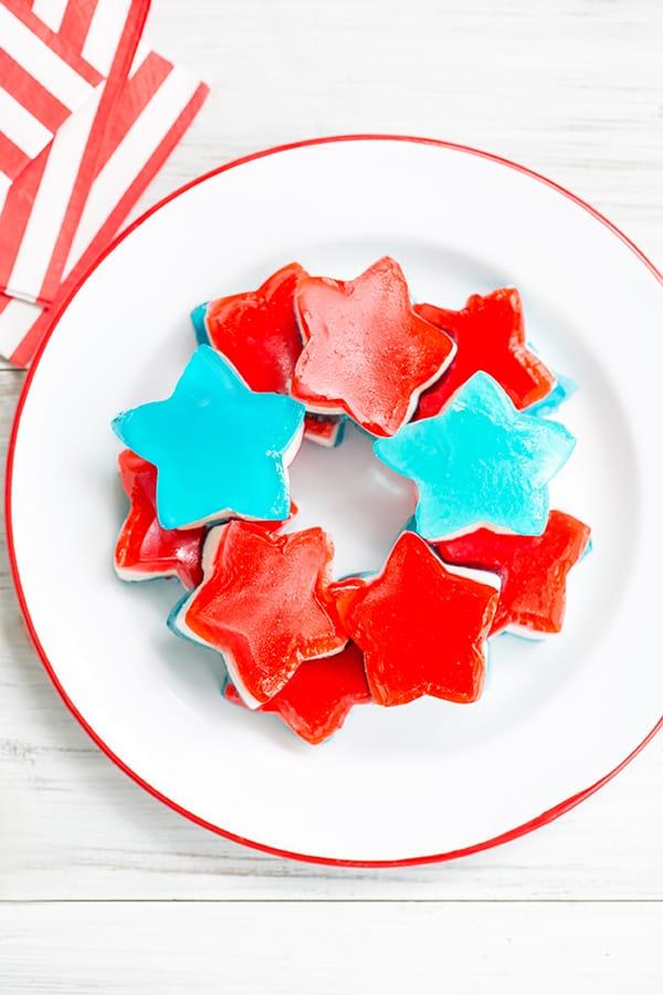 Star shaped jello shots