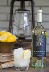 A Refreshing Ginger & Lemon White Wine Cocktail