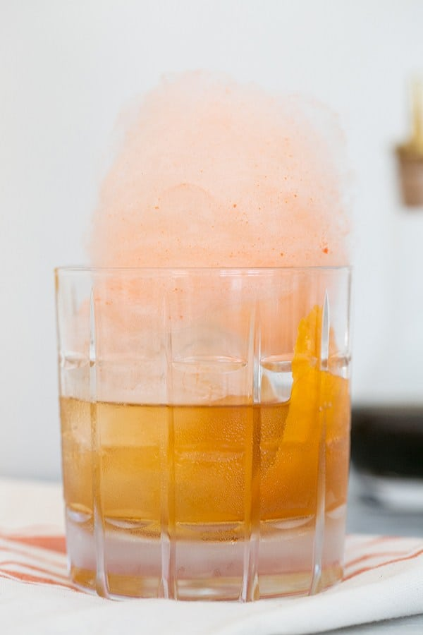Old Fashioned cotton candy drink