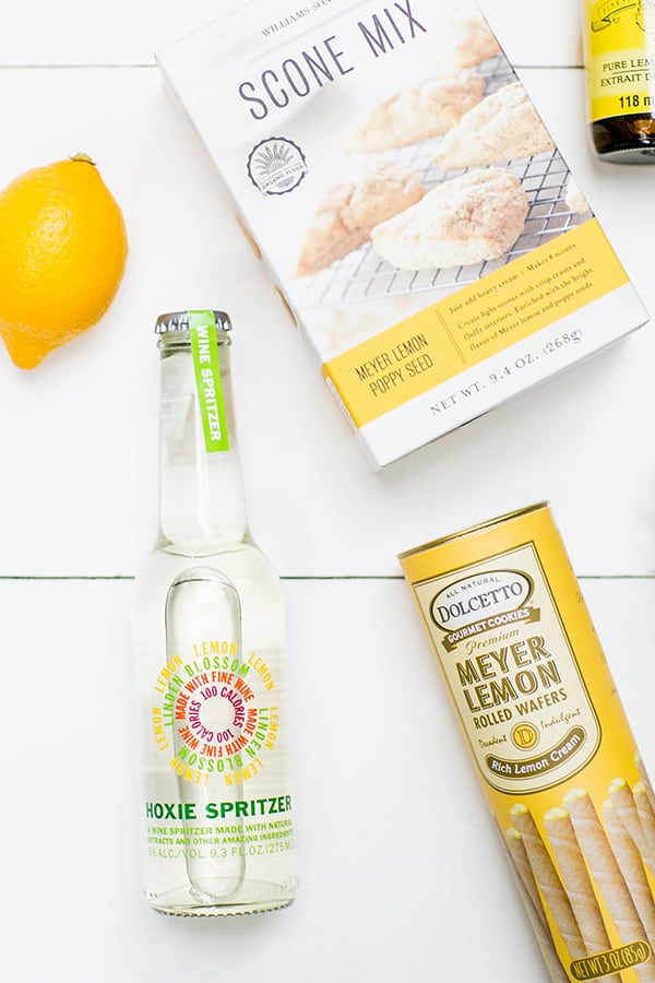 lemon spritzer, lemon cookies