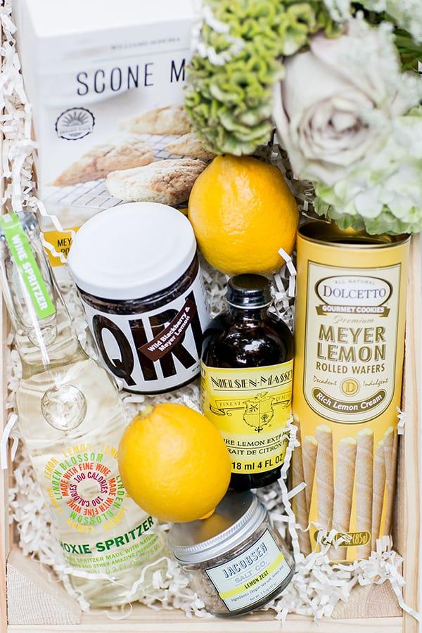 lemon themed gift box