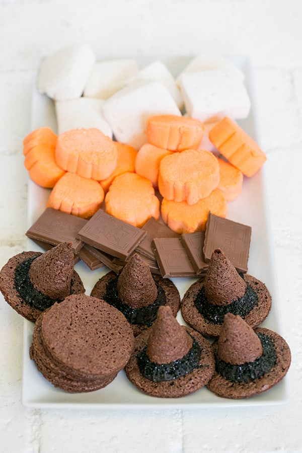 witch Hat smore's with marshmallows